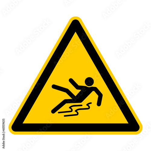canvas print picture symbol for slippery when wet german rutschgefahr g422