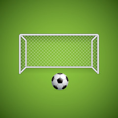 Soccer goal and ball