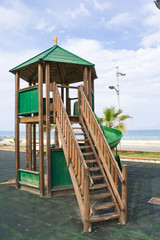 Wooden kids game structure playground urban park