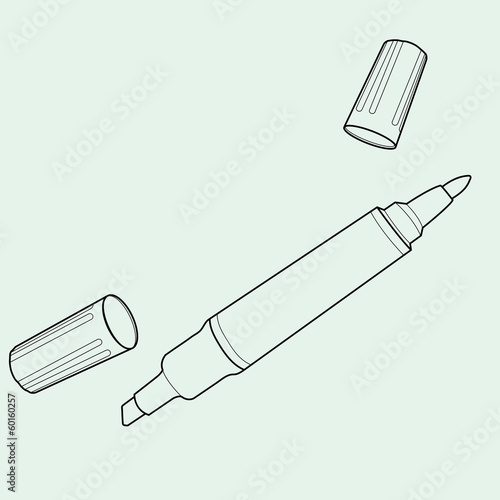 permanent markers out line vector