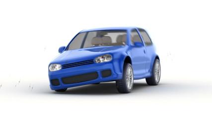 fast car wash, 3d animation