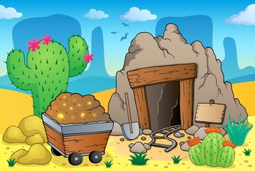 Desert with old mine theme 4