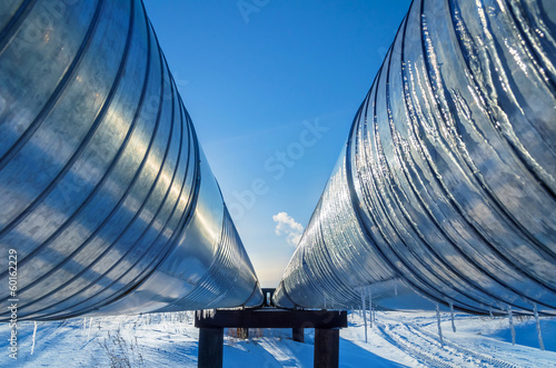 Pipeline on a background of blue sky