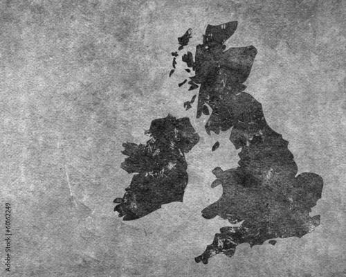 Grey grungy UK map