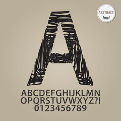 Abstract Sketch Alphabet and Digit Vector