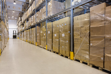 Stillage in warehouse