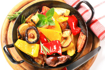 Pan fried vegetables