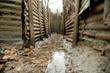 Leinwanddruck Bild - WW1 Trenches, Sanctuary Wood, Ypres, Belgium