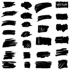 Set of vector marker spots