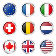Länder - Sticker : Europa, Frankreich, Italien, ...