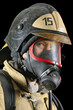 Firefighter in breathing apparatus