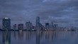 Miami, Florida Day to Night Time Lapse