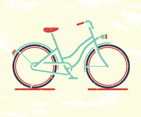 Retro bicycle. Vector illustration.