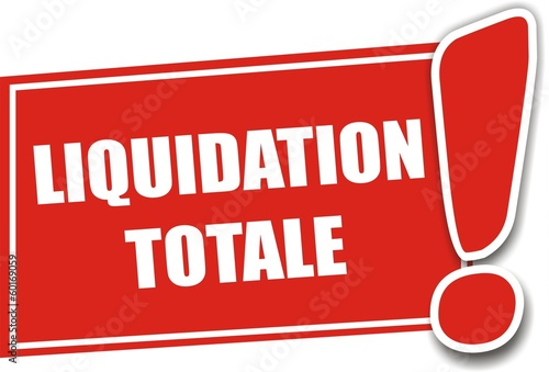 étiquette liquidation totale