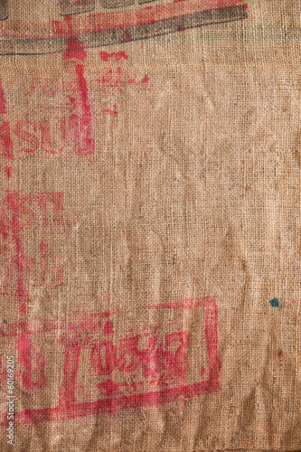 jute sackcloth decoration