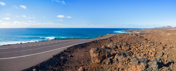 Driving in lanzarote.