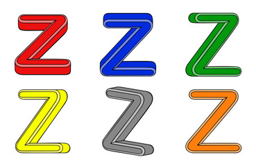 Six letter (Z) 3d
