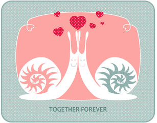 "Vector illustration ""Together forever"""