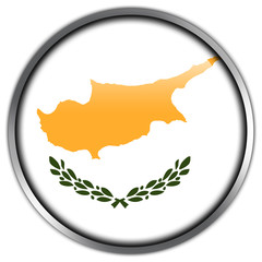 Cyprus Flag glossy button