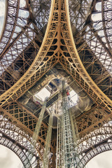 Under the tower Eiffel