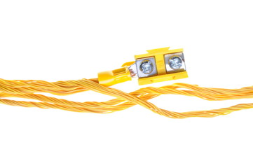 Electric power distribution cable with terminal block