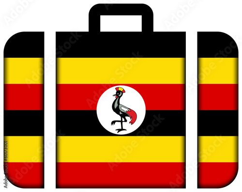 Suitcase with Uganda Flag