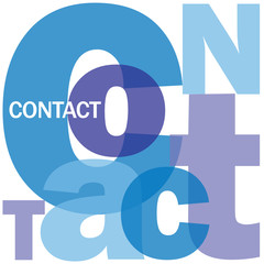 """CONTACT"" Letter Collage (customer service details call us)"