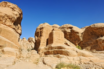 Mountains of Petra in Jordan, Middle East