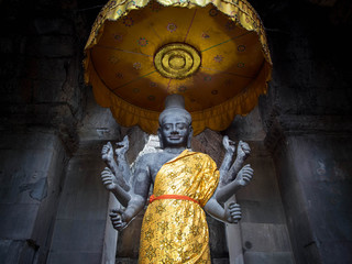 Revered Vishnu Statue at Angkor Wat, Cambodia