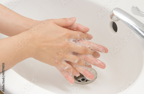 Washing of hands with soap ,hand  hygiene