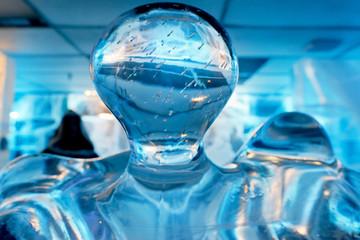 ice block statue