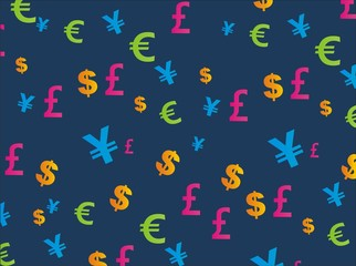currency seamless pattern