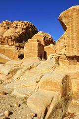 Block grave in Petra