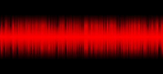 Red sound on black background