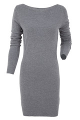 Knitted dress isolated on a white background