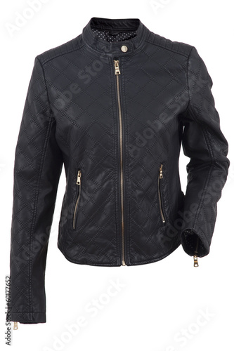 Female motorcycle jacket isolated on white background