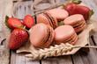 Macarons Erdbeeren