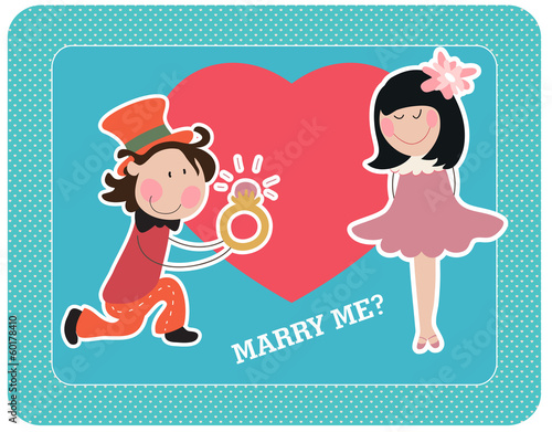 "Vector illustration ""Marry me?"""
