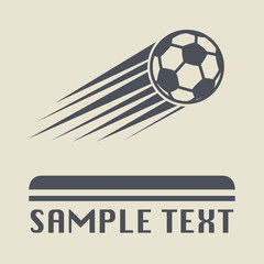 Football ball icon or sign, vector illustration