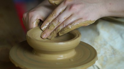 potter's wheel, making vintage vessels