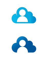 Cloud man logo