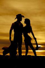 Silhouette cowboy indian saddle club down