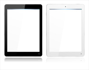 Realistic Computer Tablet in Black and White