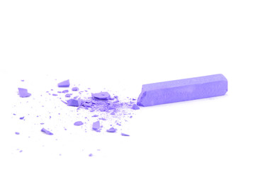 Crumbled lilac chalk