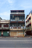 Houses protected from monkeys in Lopburi, Thailand