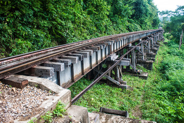 View of Burma railway (Death railway), Thailand