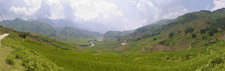 Mountains near Sapa, Vietnam