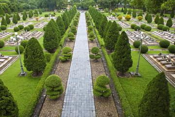 Military cemetery in Dien Bien Phu, Vietnam.