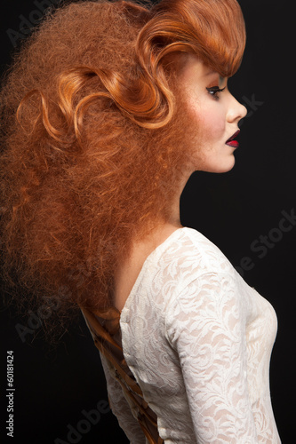 Sensual woman with beauty hairstyle