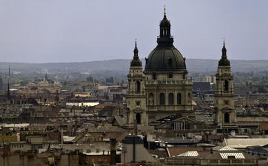 Budapest skyline with St. Stephen's Basilica, Hungary